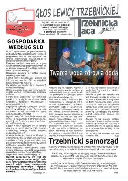 Najnowszy numer gazety Głos Lewicy Trzebnickiej