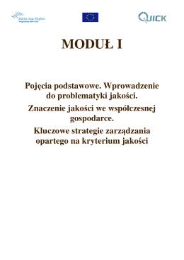 Modul 1 Znaczenie jakosci