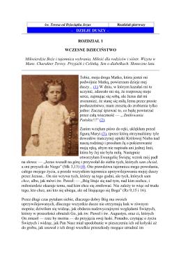 Dzieje Duszy sw.Teresa od Dzieciątka Jezus.
