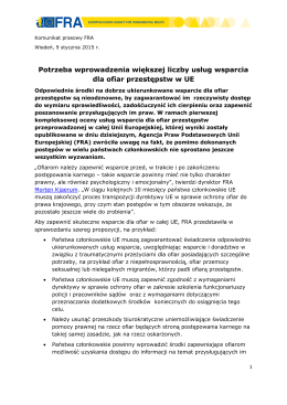 targeted victim support services needed in the EU - pl