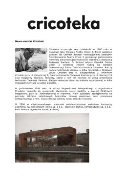 Nowa siedziba Cricoteki