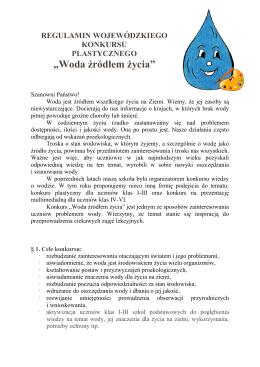 """""""Woda źródłem życia"""" - Szkoła Podstawowa nr 17"""