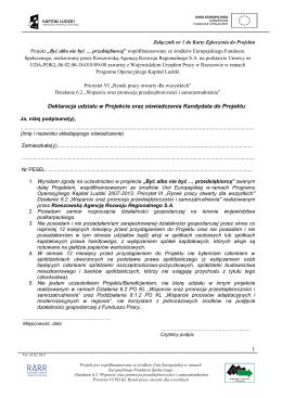 Załącznik nr 1 pdf - Być albo nie być... Przedsiębiorcą