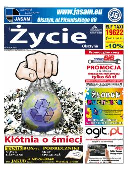 Kłótnia o śmieci - Nowe Życie Olsztyna