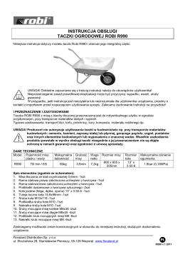 instrukcja obsługi taczki ogrodowej robi r990