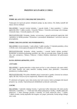 chilijskie przepisy kulinarne