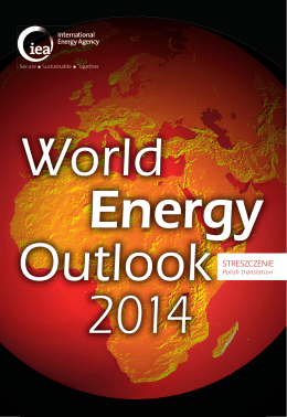 World Energy Outlook 2014 - Executive Summary
