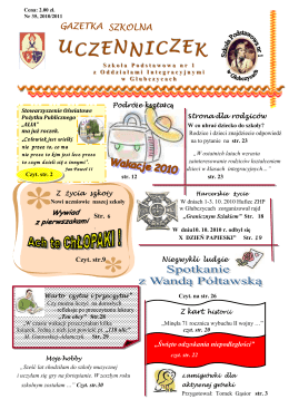 UCZENNICZEK - Szkoła Podstawowa nr 1 w Głubczycach z