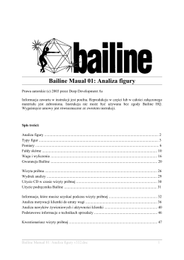 Bailine Maual 01: Analiza figury
