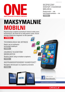 ONE Catalogue Listopad 2012