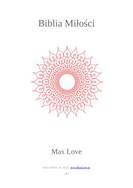 Biblia Miłości