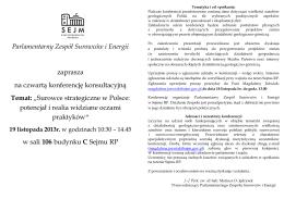 Surowce strategiczne w Polsce... - Prof. Mariusz
