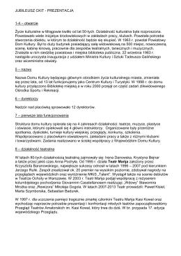 Opis do prezentacji - Centrum Kultury i Turystyki w Mrągowo