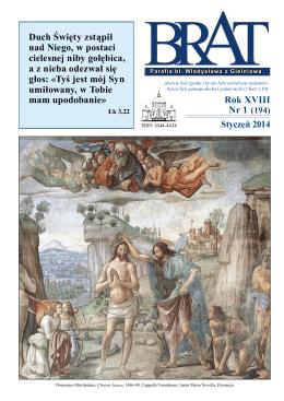 Styczeń 2014 Rok XVIII Nr 1 (194) Duch Święty zstąpił nad Niego, w