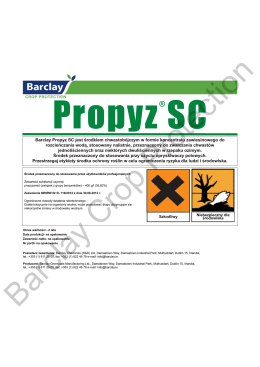 Propyz® SC Label - Barclay Chemicals