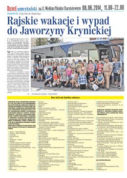 Rajskie wakacje i wypad do Jaworzyny Krynickiej
