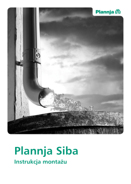 Plannja Siba - instrukcja montażu