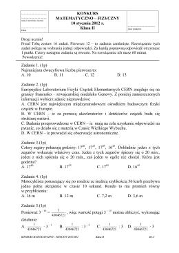 Zadania - I etap - Gimnazjum im. Jana Pawła II
