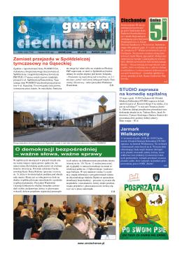 marzec 2014 - Urząd Miasta Ciechanów