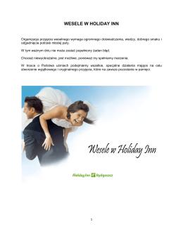 WESELE W HOLIDAY INN - Holiday Inn Bydgoszcz