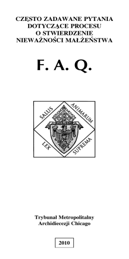 FAQ - Archdiocese of Chicago