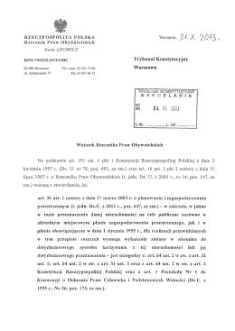 K 50/13 – Wniosek RPO