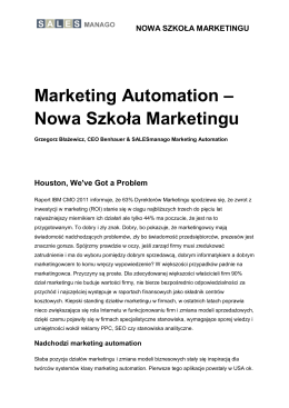 """Marketing Automation – Nowa Szkoła Marketingu"" – tutaj do"