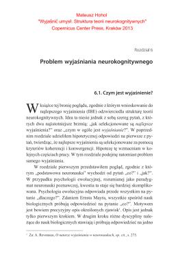Problem wyjaśniania neurokognitywnego