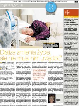"""dializa zmienia życie, ale nie musi nim """"rządzić"""""""