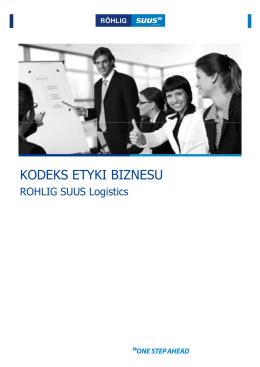 Kodeks etyki biznesu [tryb zgodnoœci]