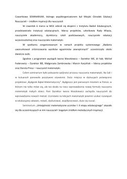 szczegóły - Miejski Ośrodek Edukacji Nauczycieli w Bydgoszczy