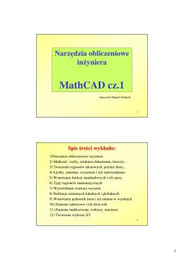 Mathcad cz.1 - obliczenia i wykresy.