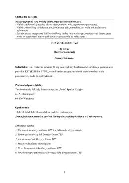 Informacja o leku dla pacjenta