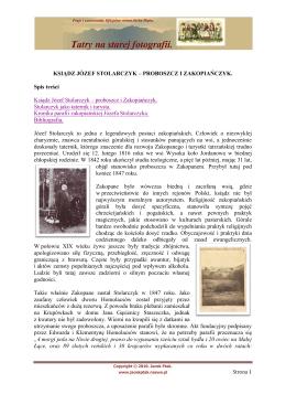 Pobierz tekst w wersji pdf. - Tatry na starej fotografii.