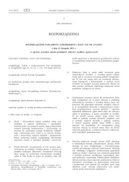 Rozporządzenie Parlamentu Europejskiego i Rady (UE) nr