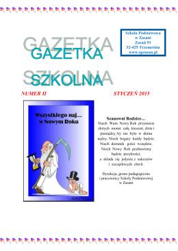 gazetka nr 2 - Szkoła Podstawowa w Zasani