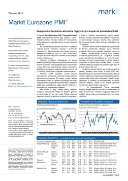 Gospodarka Eurolandu wzrosła w najszybszym - KOSS