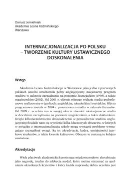 internacjonalizacja po polsku tworzenie kultury ustawicznego