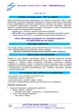 akademia kompetencji ngo – prewindykacje