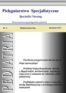 Pielęgniarstwo Specjalistyczne Nr 3 Grudzień 2013