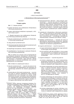 1) zasady tworzenia oraz użytkowania infrastruktury informacji przest