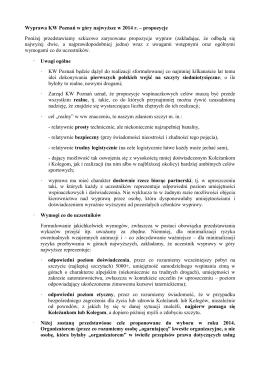 Wyprawa KW Poznań w góry najwyższe w 2014 r. – propozycje