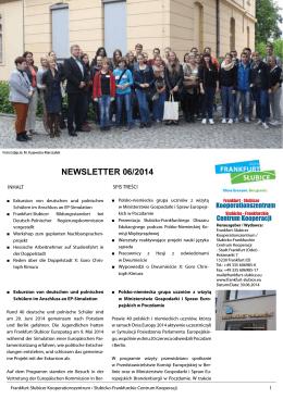 NEWSLETTER 06/2014 - Frankfurt
