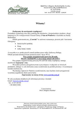 Oferta dla grup zorganizowanych [PDF]