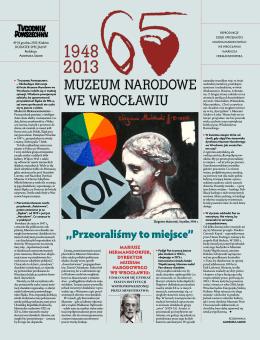 """""""Przeoraliśmy to miejsce"""" - Muzeum Narodowe we Wrocławiu"""