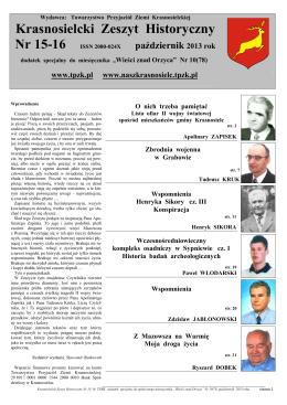 Krasnosielcki Zeszyt Historyczny Nr 15-16