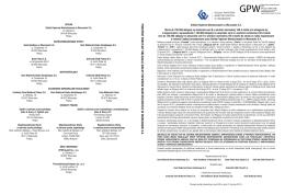 Prospekt emisyjny obligacji GPW