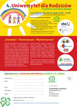 4.Uniwersytet dla Rodziców - Zespół Administracyjny Oświaty w