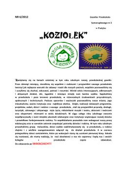 """""""KOZIOŁEK"""" - Przedszkole Samorządowe nr 2 w Pasłęku"""