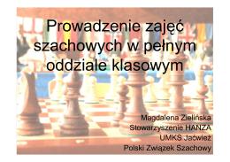 Prowadzenie zajęć szachowych w pełnym